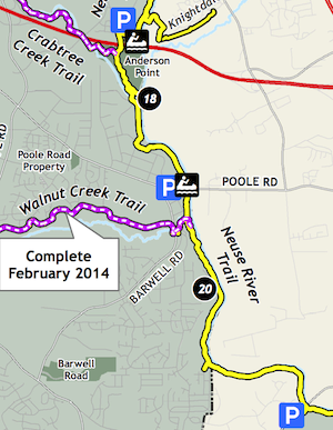 Neuse trail map