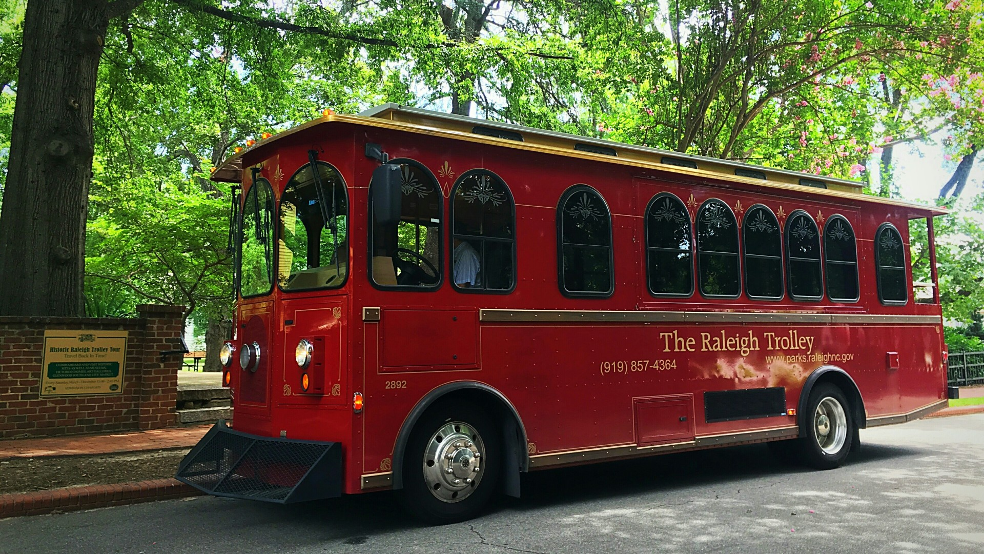 HIstoric Raleigh trolley at Mordecai Historic Park