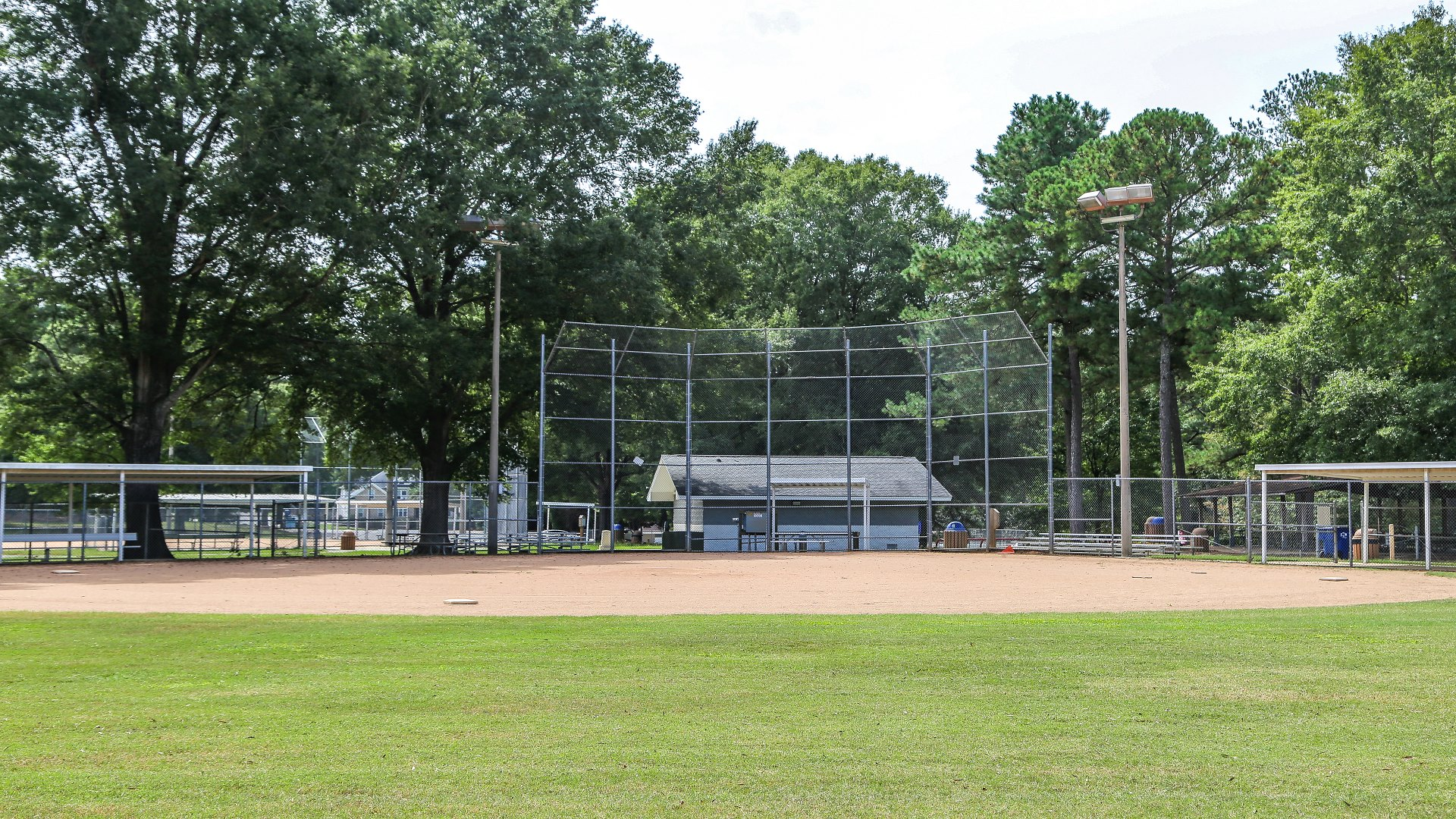 Shot of the youth baseball field and diamond at Biltmore Hills Park