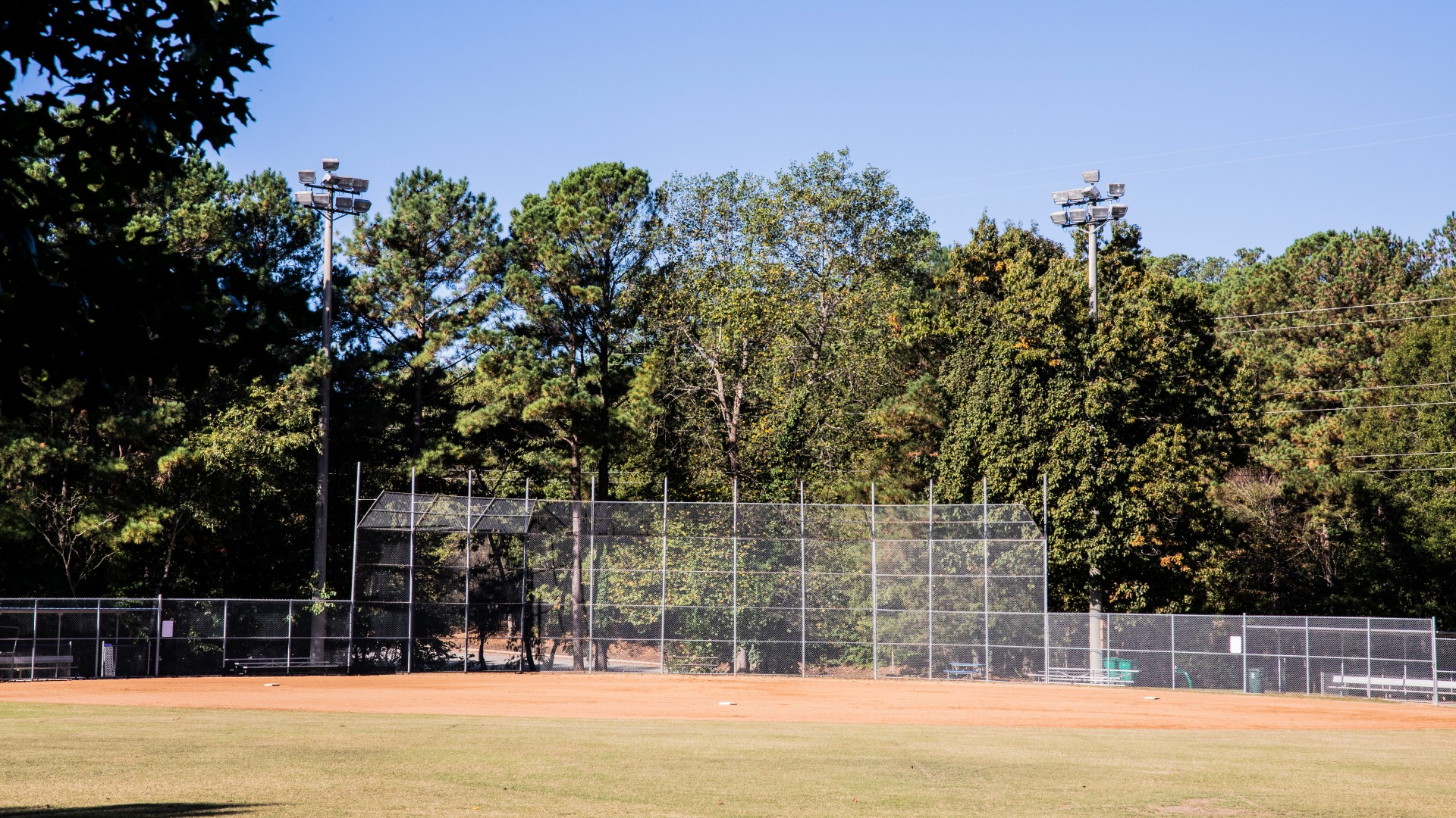 Outdoor softball field at Cedar Hills Park