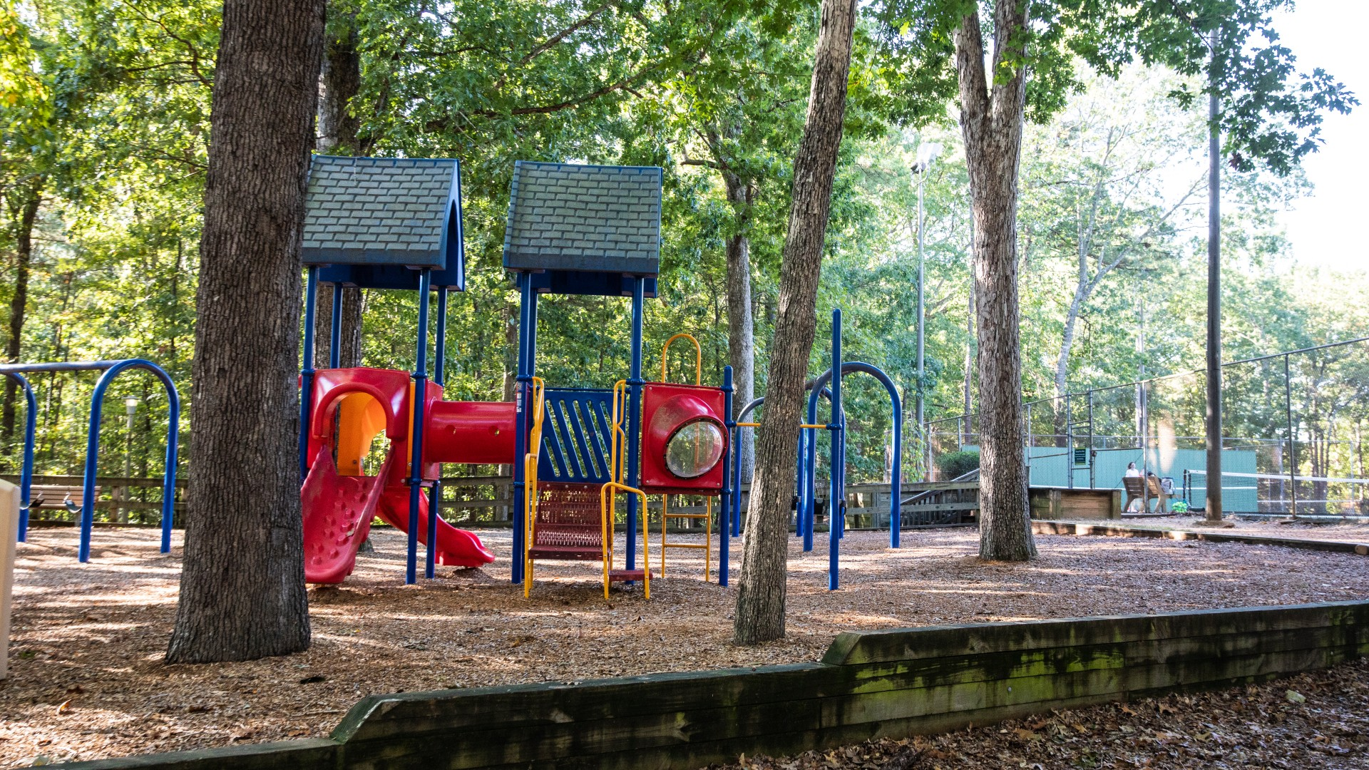 Playground for children ages 2 to 5 at Cedar Hills Park