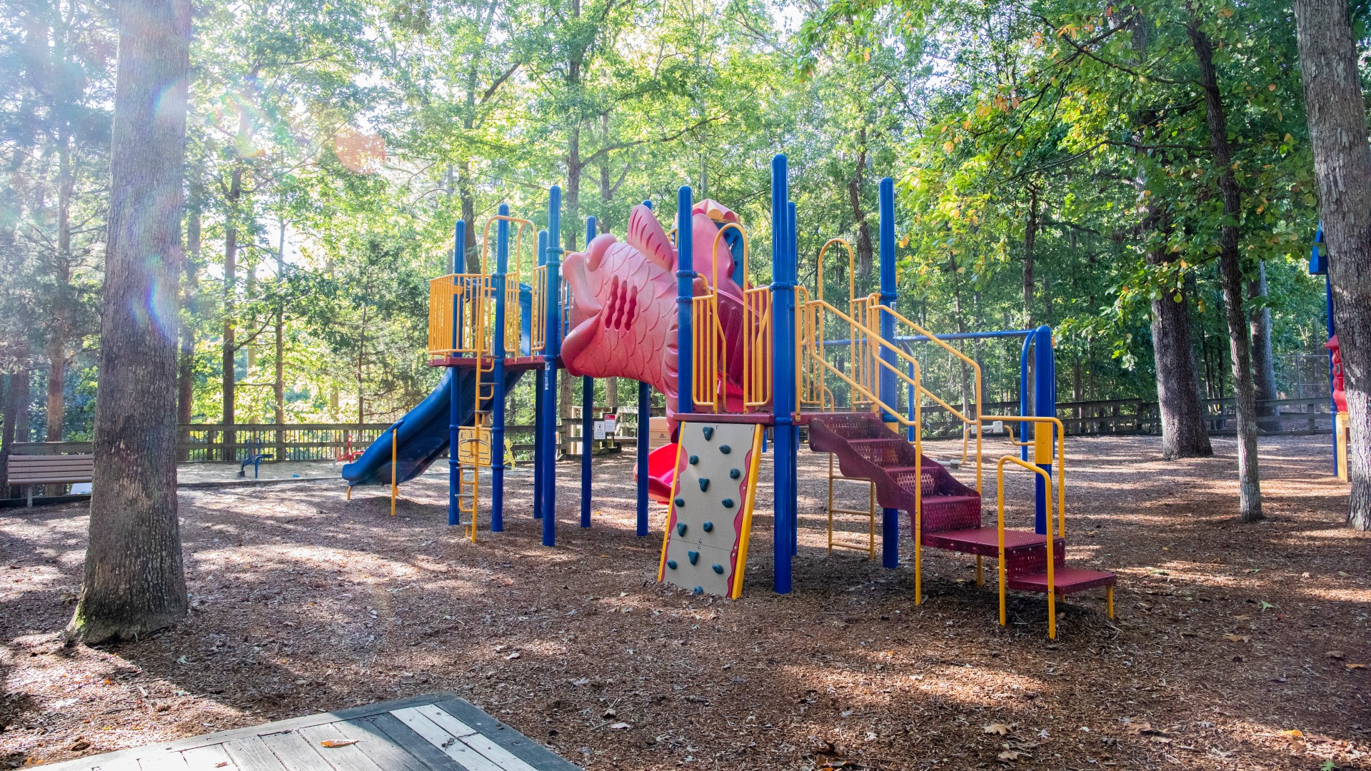 A second playground for kids ages 5 to 12 at Cedar Hills Park