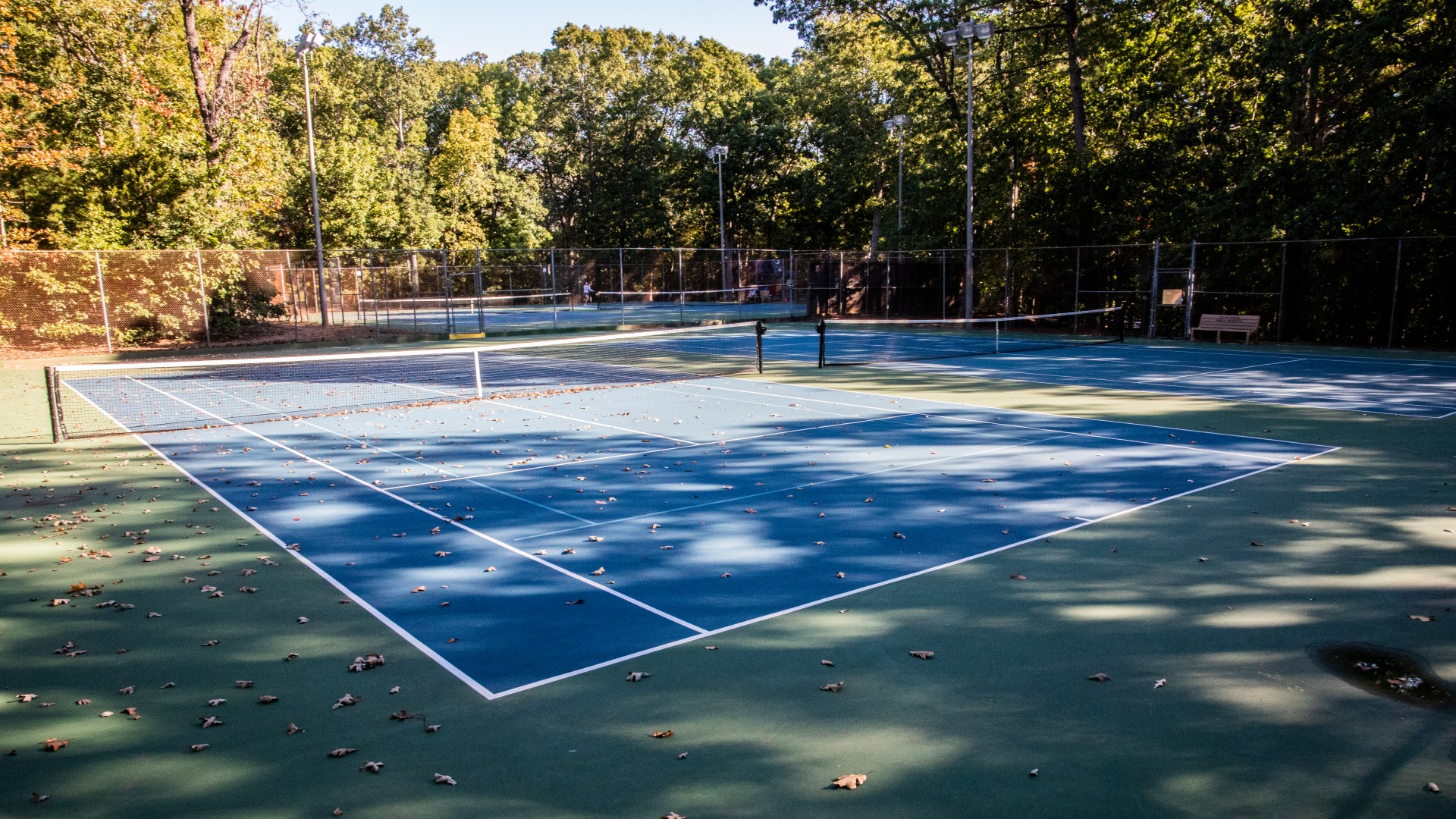 Cedar Hills Park outdoor tennis court