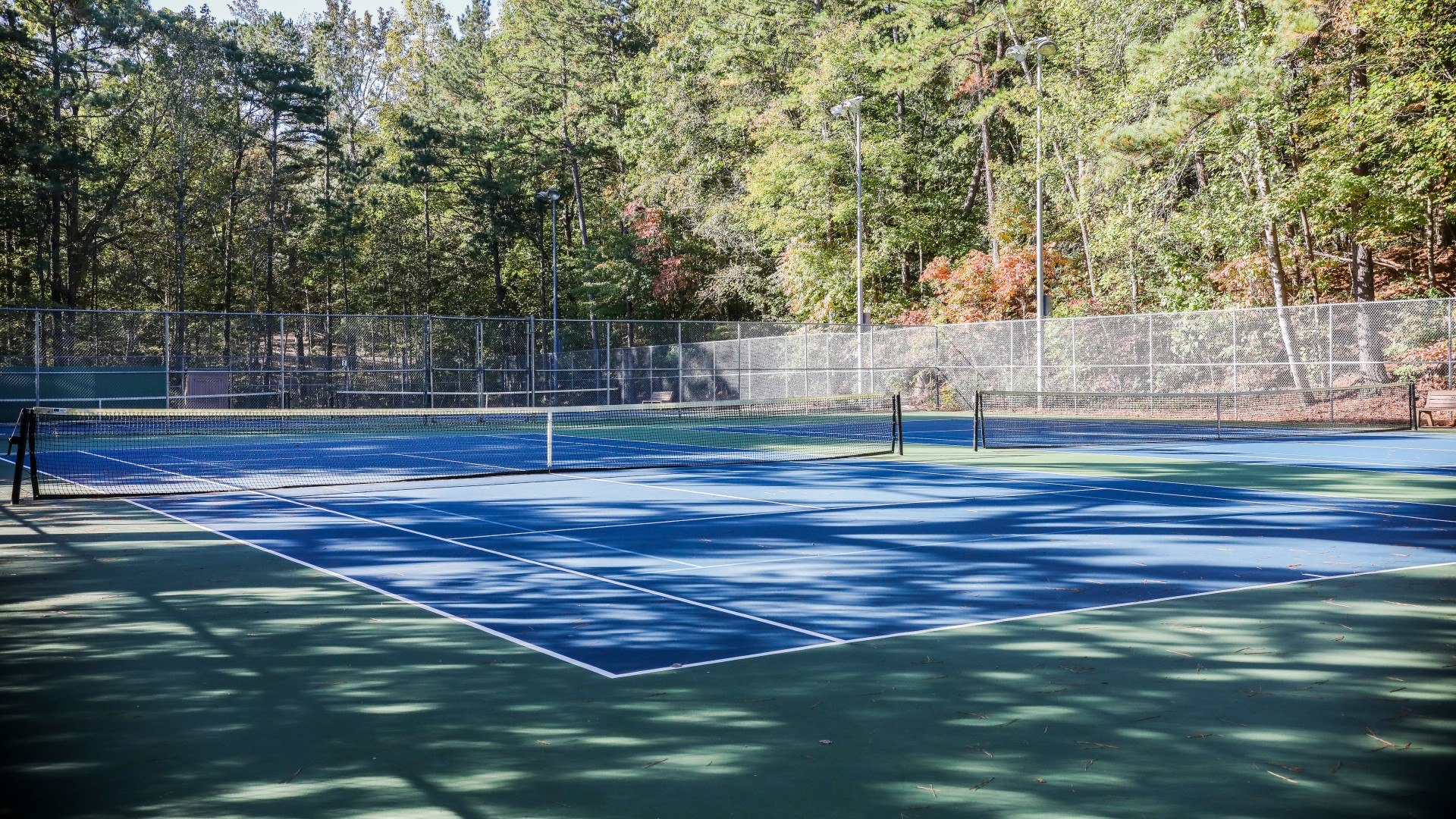 Several tennis courts at Kentwood Park