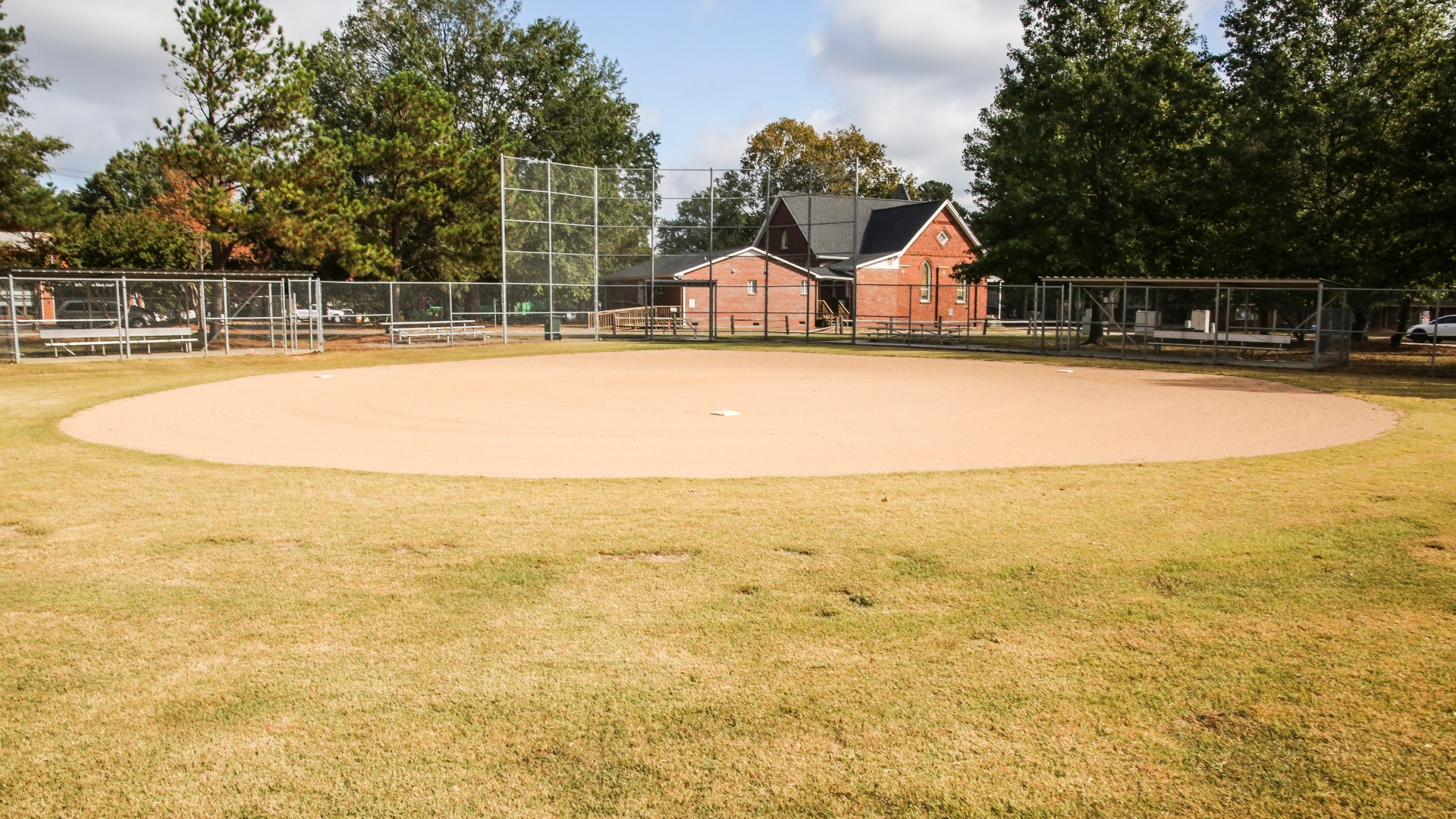 An outdoor youth baseball field at Method Road Park