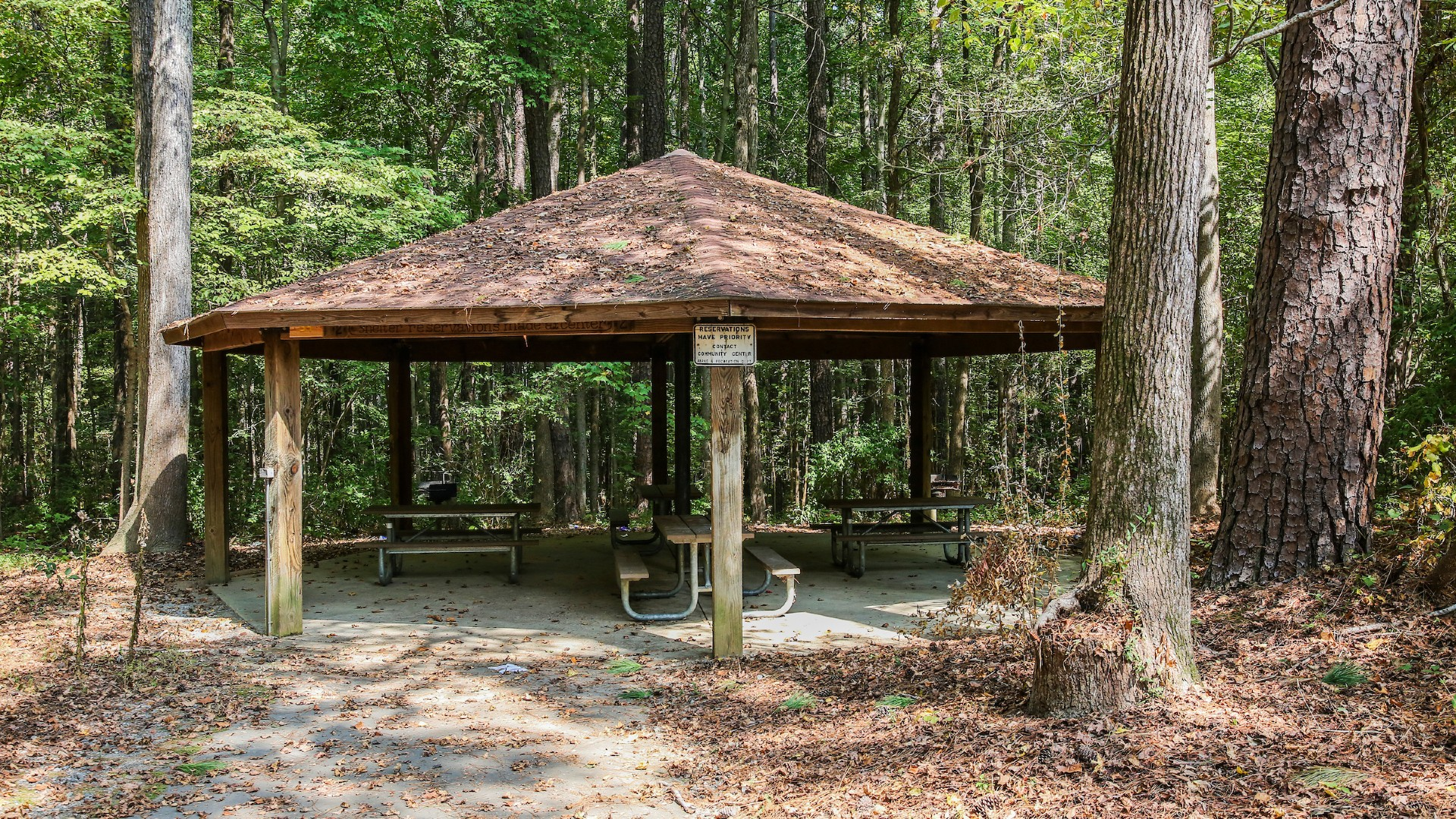 picnic shelter at millbrook exchange park