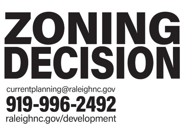Zoning Decision Sign
