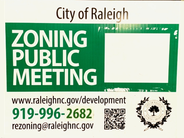 Zoning Public Meeting Sign