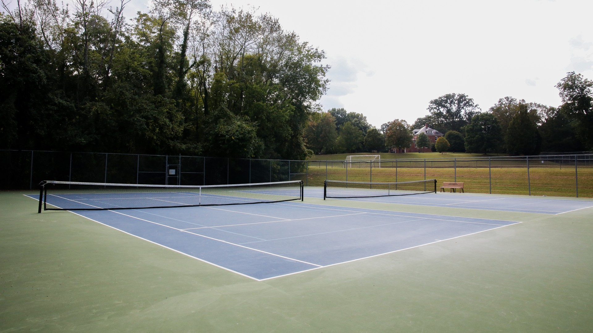 Two outdoor tennis courts