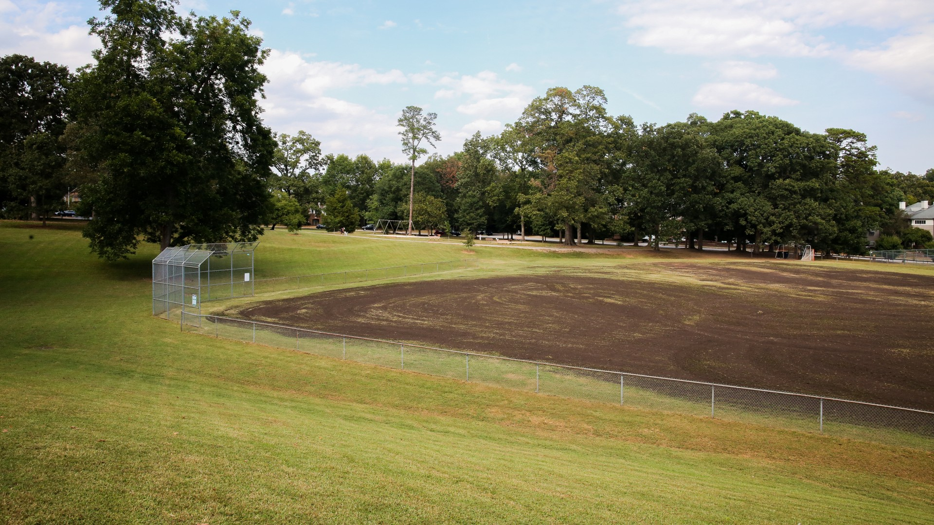 A large softball field at Fletcher Park