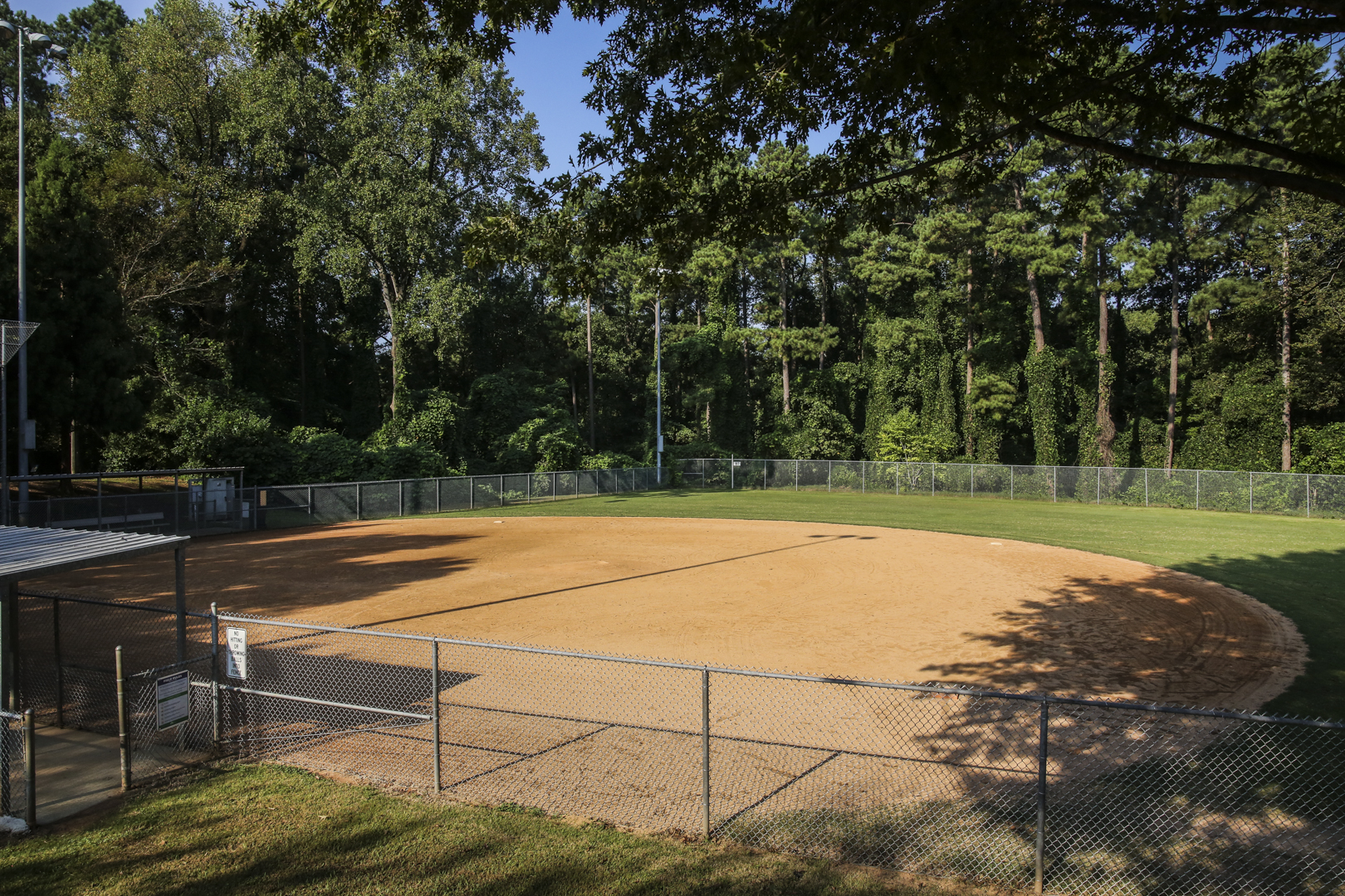 A third smaller field used for youth baseball