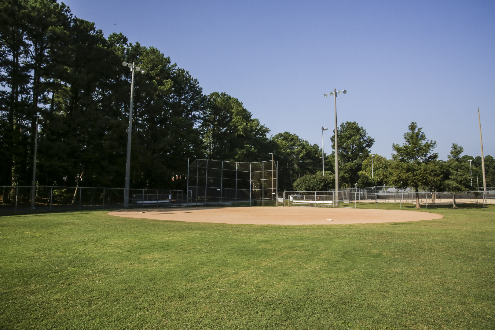 A large open field used for youth softball