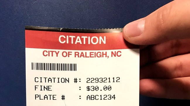 Raleigh Parking Citation