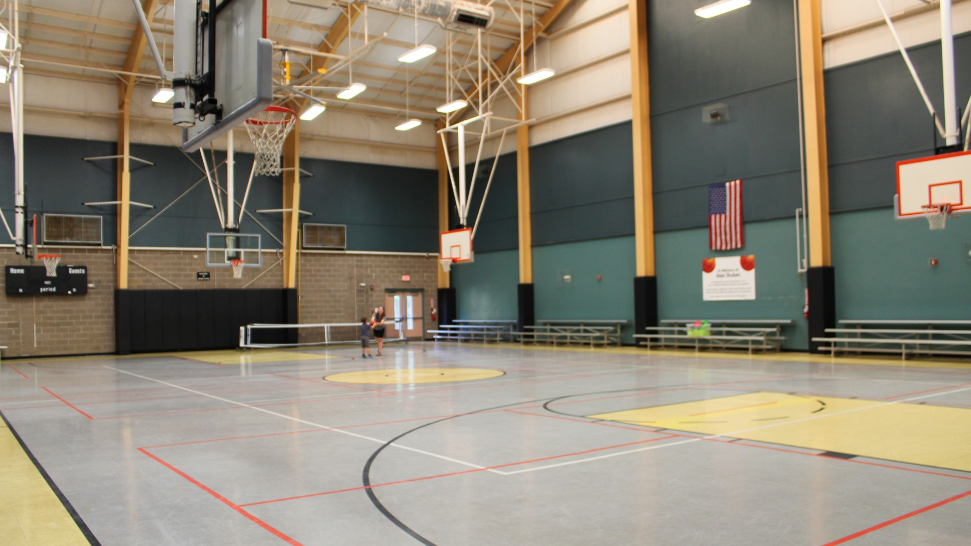 Open gymnasium for basketball