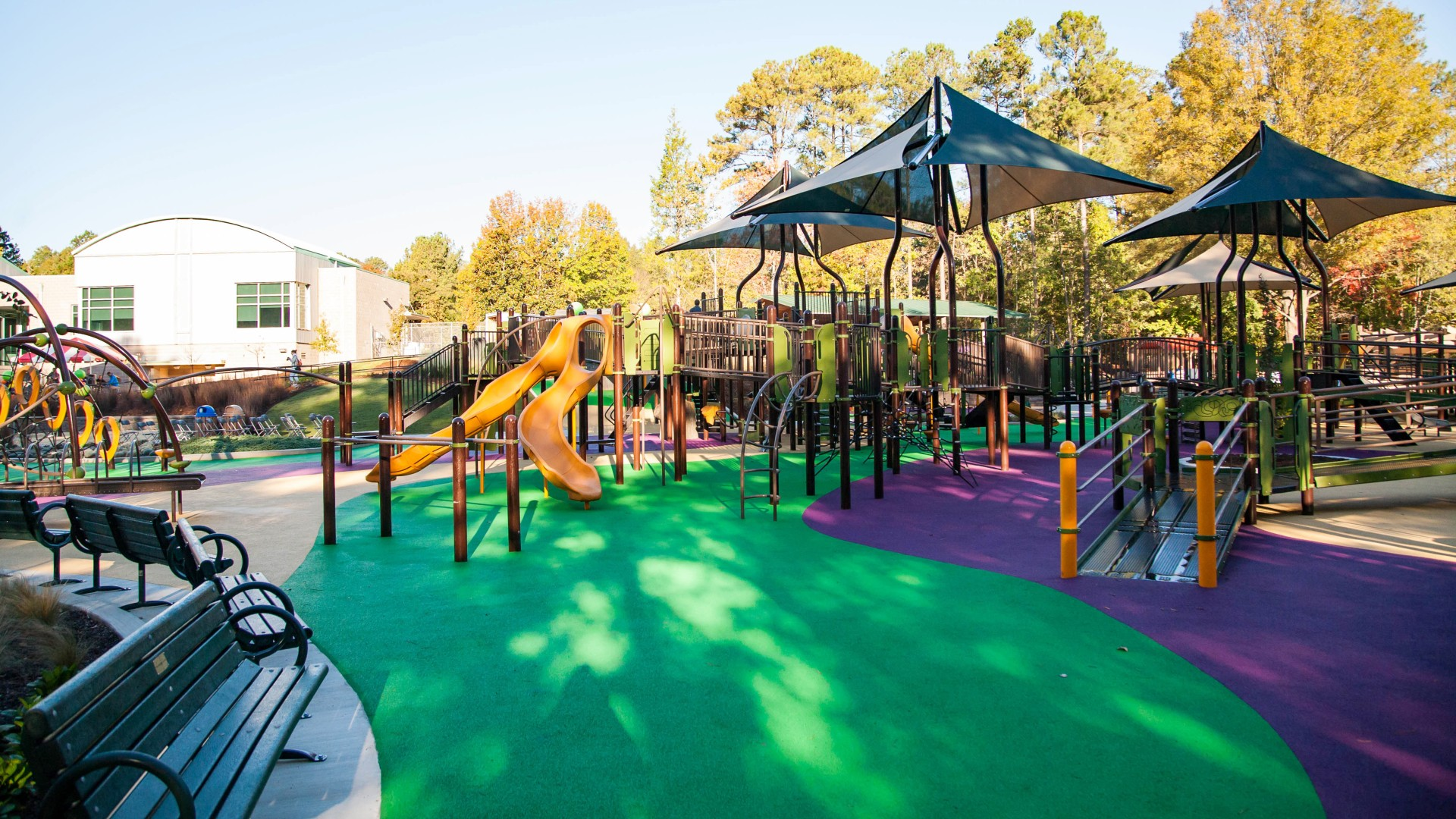 A large inclusive playground