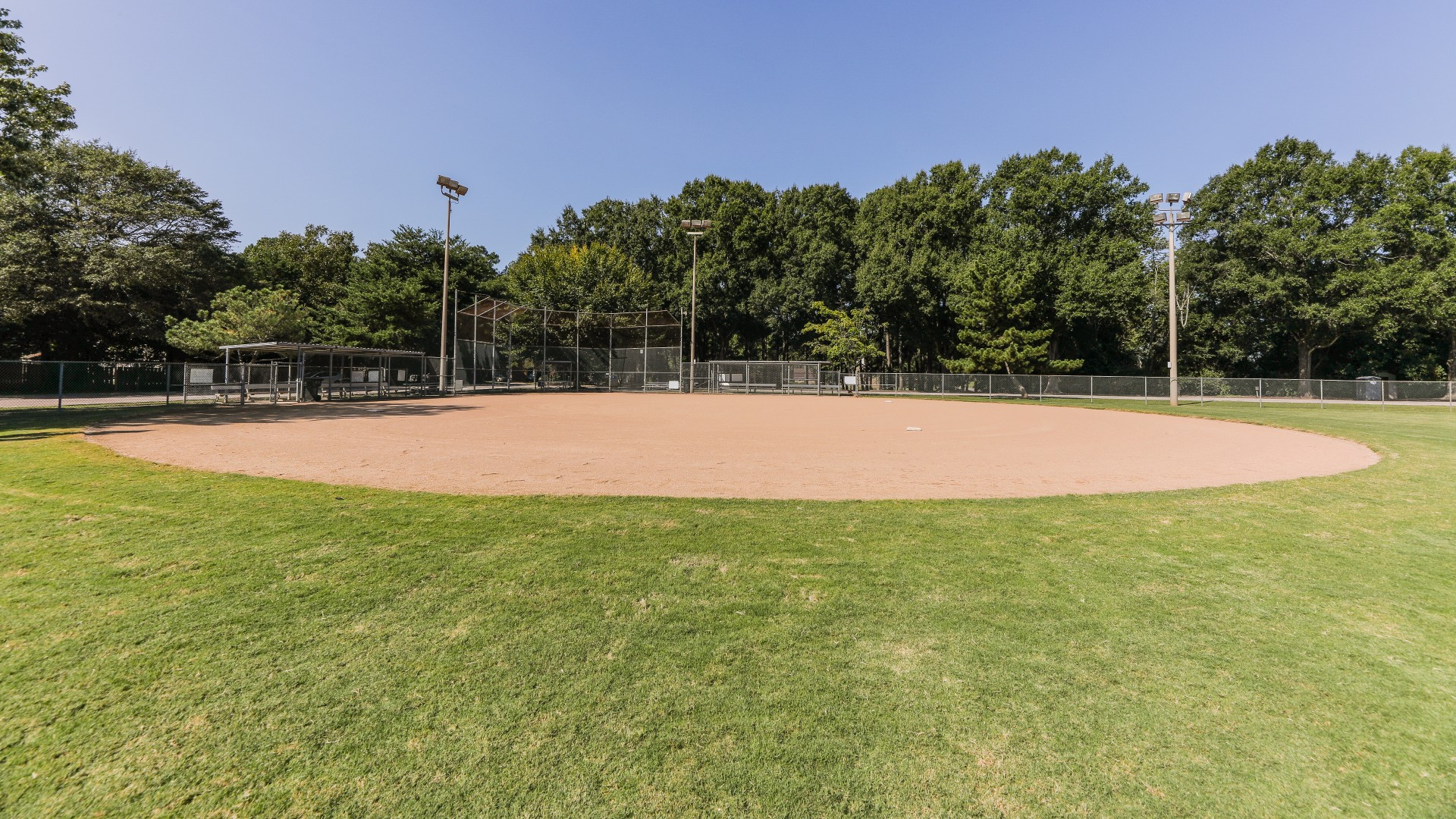 A second softball field with backstop