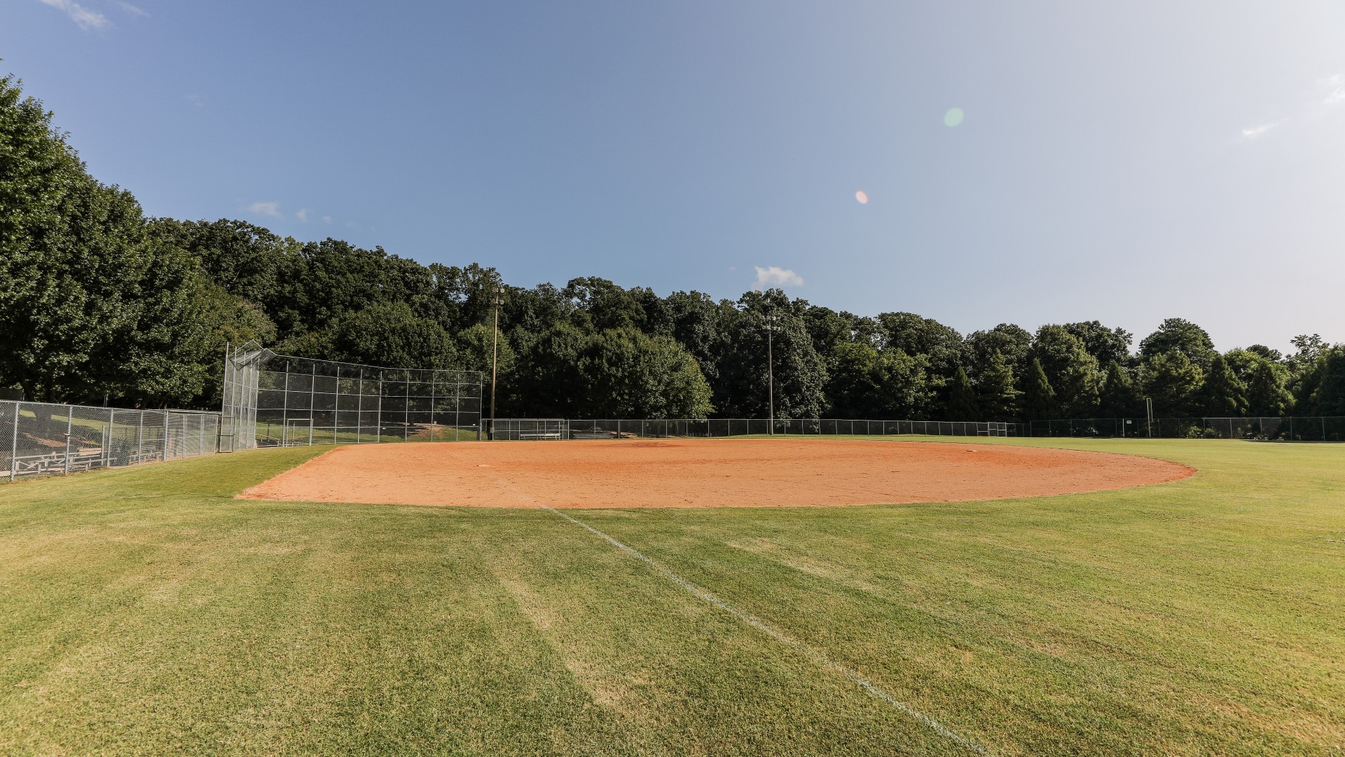 A fourth baseball diamond used for youth baseball