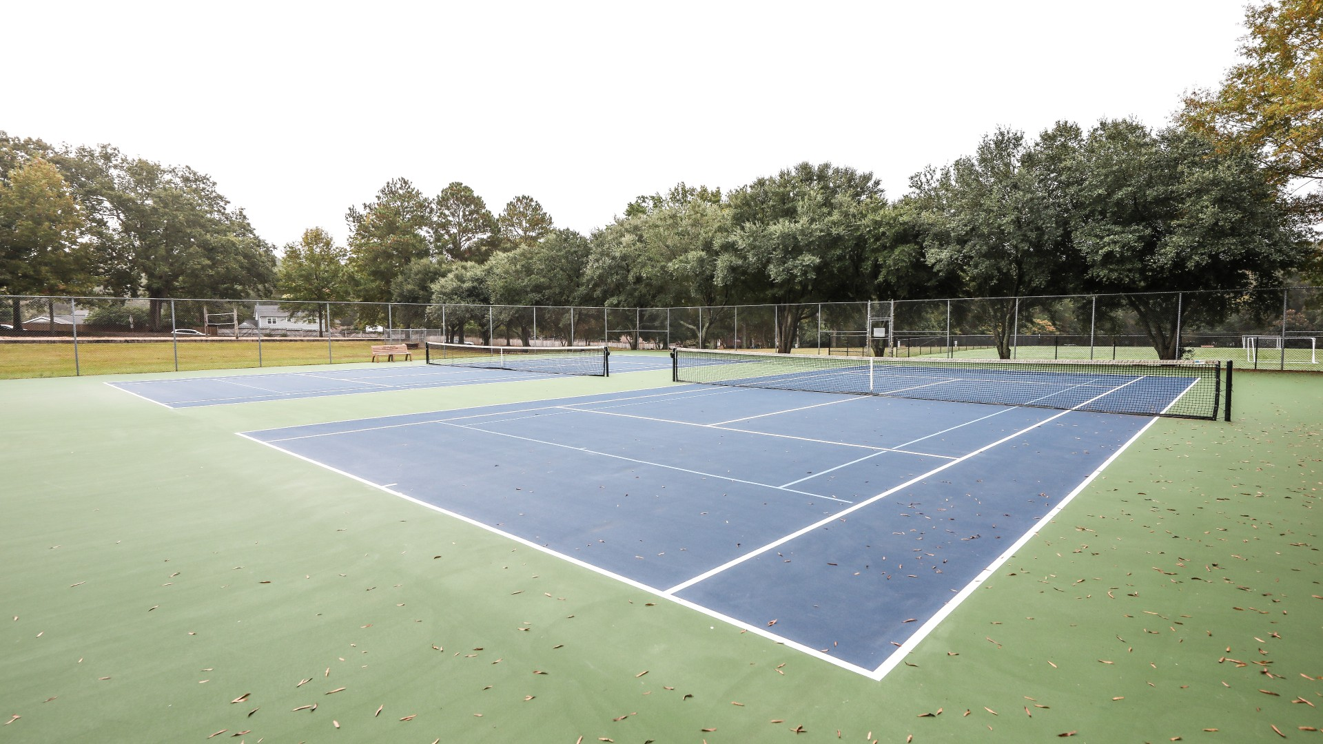 Two outdoor tennis courts at Williams Park