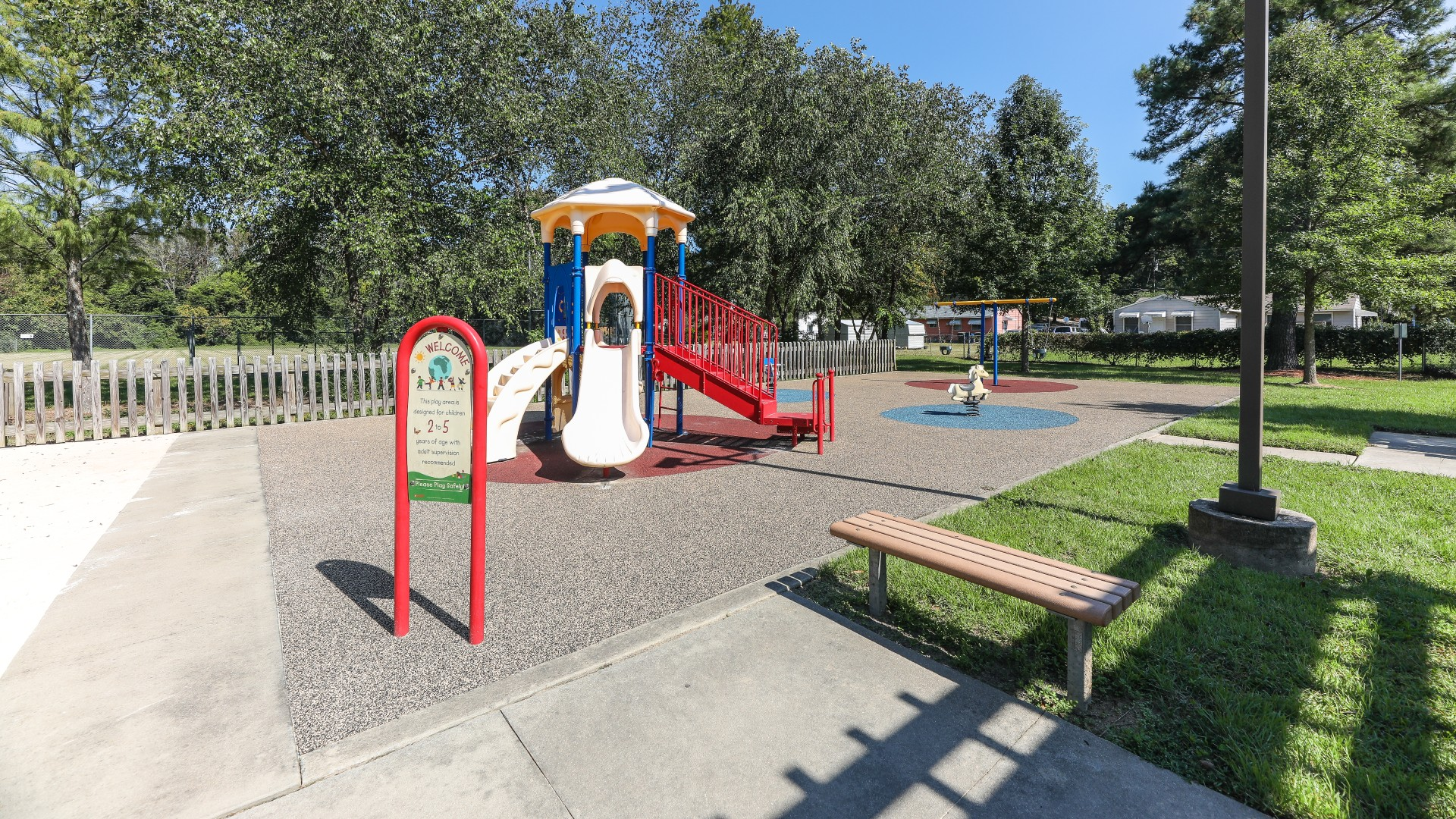 A smaller playground for younger kids