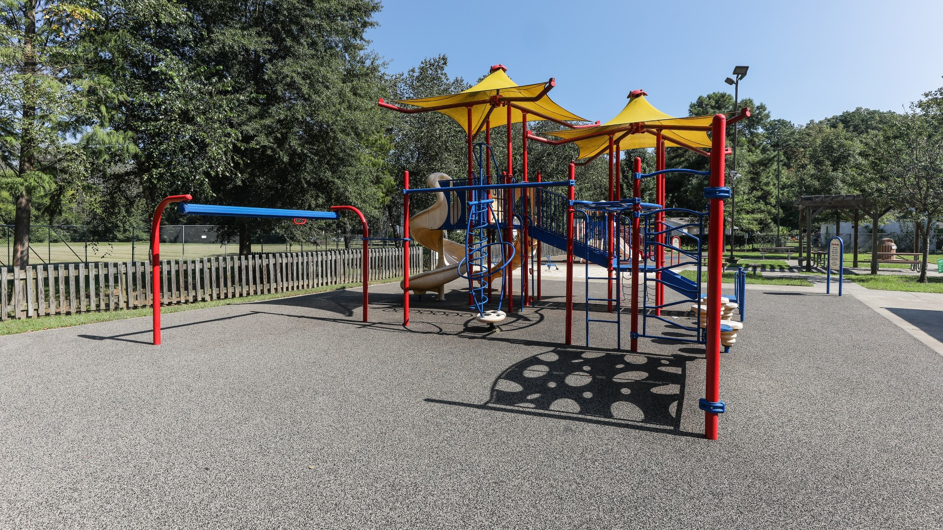 A larger, more advanced playground for older kids
