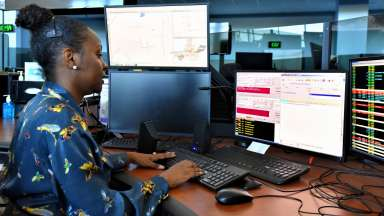 Operator at Raleigh-Wake Emergency Communications Center