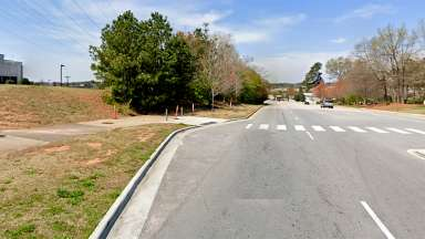 Area for new Centennial Pkwy sidewalk
