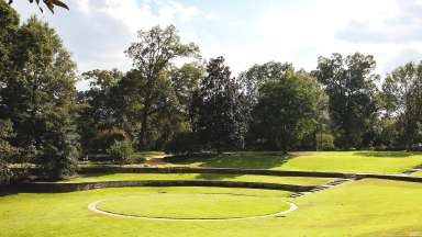 grassy amphitheater at Fred Fletcher park