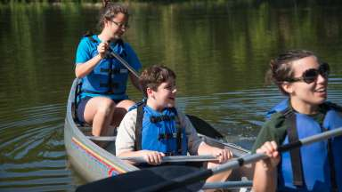 Canoers at Camp Durant Parks