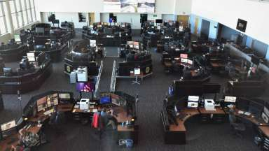 emergency communications center floor