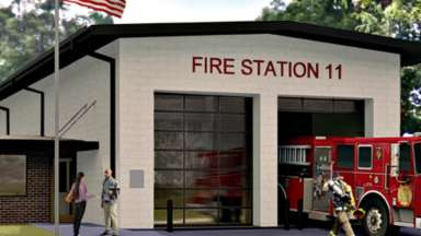 rendering of fire station 11