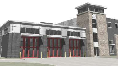 A rendering of fire station 22 replacement