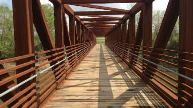 Bridge on section of Neuse Greenway Trail