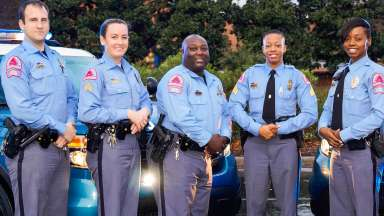 diverse group of Raleigh Police Officers