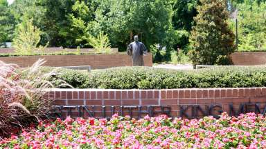 Statue of Martin Luther King in the Raleigh Martin Luther King, Jr. Memorial Gardens