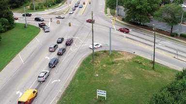 Tryon Road and lake Wheeler Intersection before construction