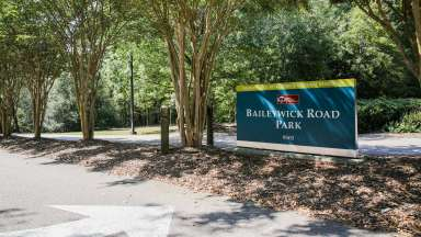 View of Baileywick Road Park Improvements