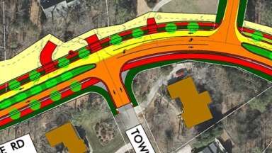 Plan of the widening of Blue Ridge Road