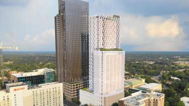 Conceptual rendering of what new hotel and mixed-use development could look like in Downtown Raleigh