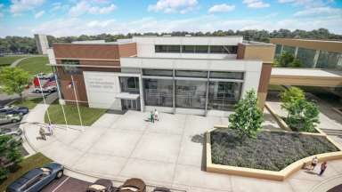 Rendering of the law enforcement training center building
