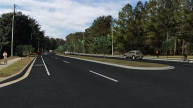 Rendering of the new Poole Road