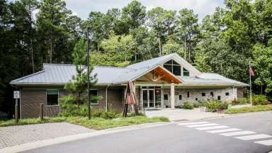 View of the exterior at the Crowder Woodland Center