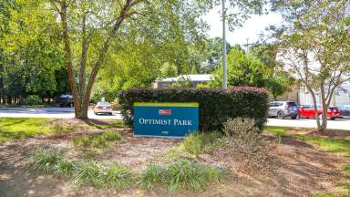 Signage at Optimist Park