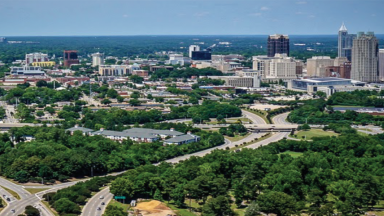 Aerial photo of Raleigh Skyline