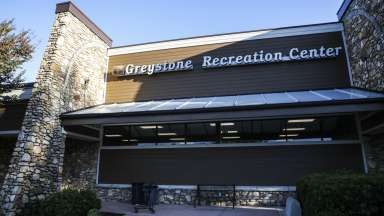 The exterior of Greystone Recreation Center
