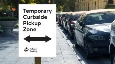 curbside temporary parking sign