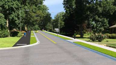 A rendering of the proposed improvements to Caroina Pines Avenue