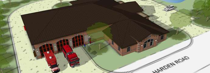 Rendering of Fire Station 14 Replacement