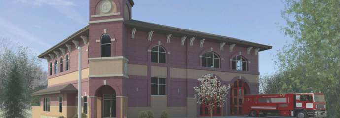 rendering of new fire station six