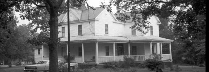Historic image of the Latta house before it burned down