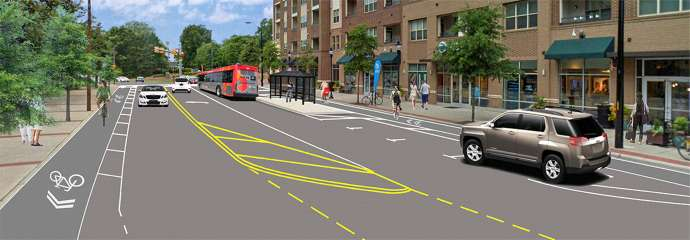 A rendering of what Oberlin Road will look like after construction